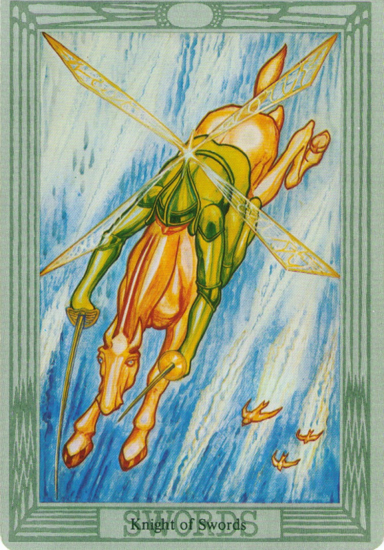 The value of the Tarot card Knight of Swords, its combination with other cards
