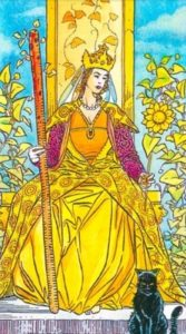 What does the Tarot Queen of Wands card mean, how does it combine with other cards