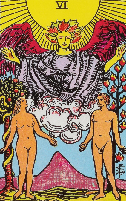 What does the Tarot Lovers card mean, how it is combined with other lasso