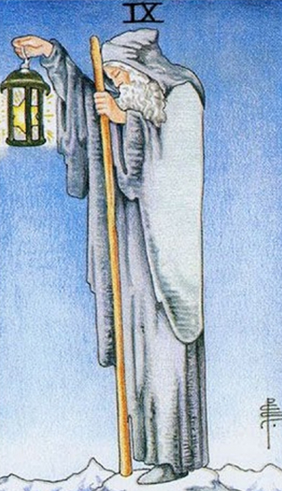 What does the Tarot Hermit card mean? How does it combine with other arcane