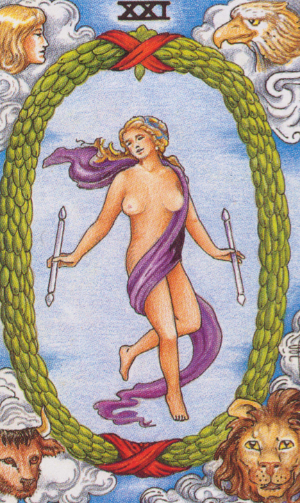 What does the Tarot World card mean, how does it combine with other lasso