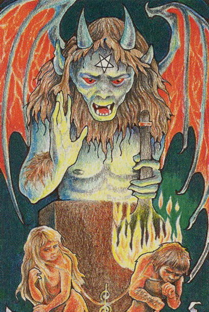 What does the Tarot Devil card mean, how does it fit with other cards