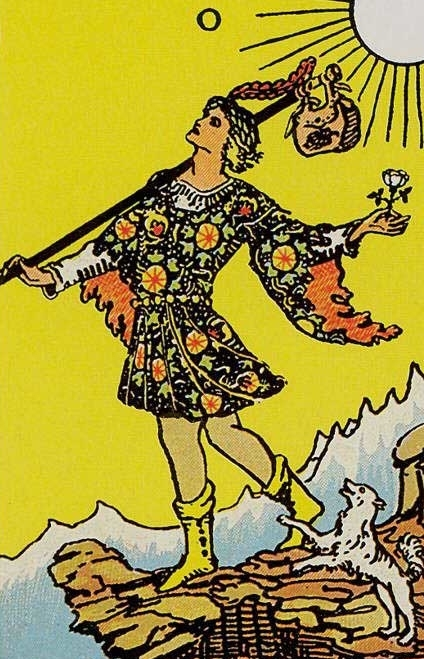 What does the Tarot Clown card (Fool) mean, how does it combine with other lasso