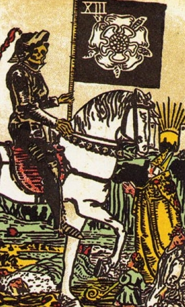 What does the Tarot Death card mean, as it is combined with other arcane