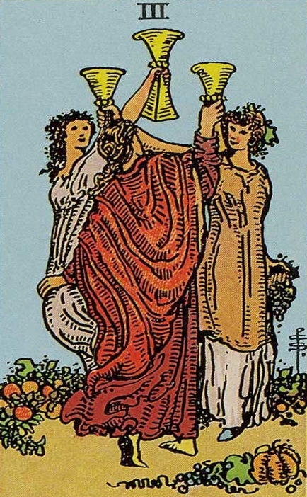 Troika Chash (Cups): the value of the Tarot card, a combination with other arcane